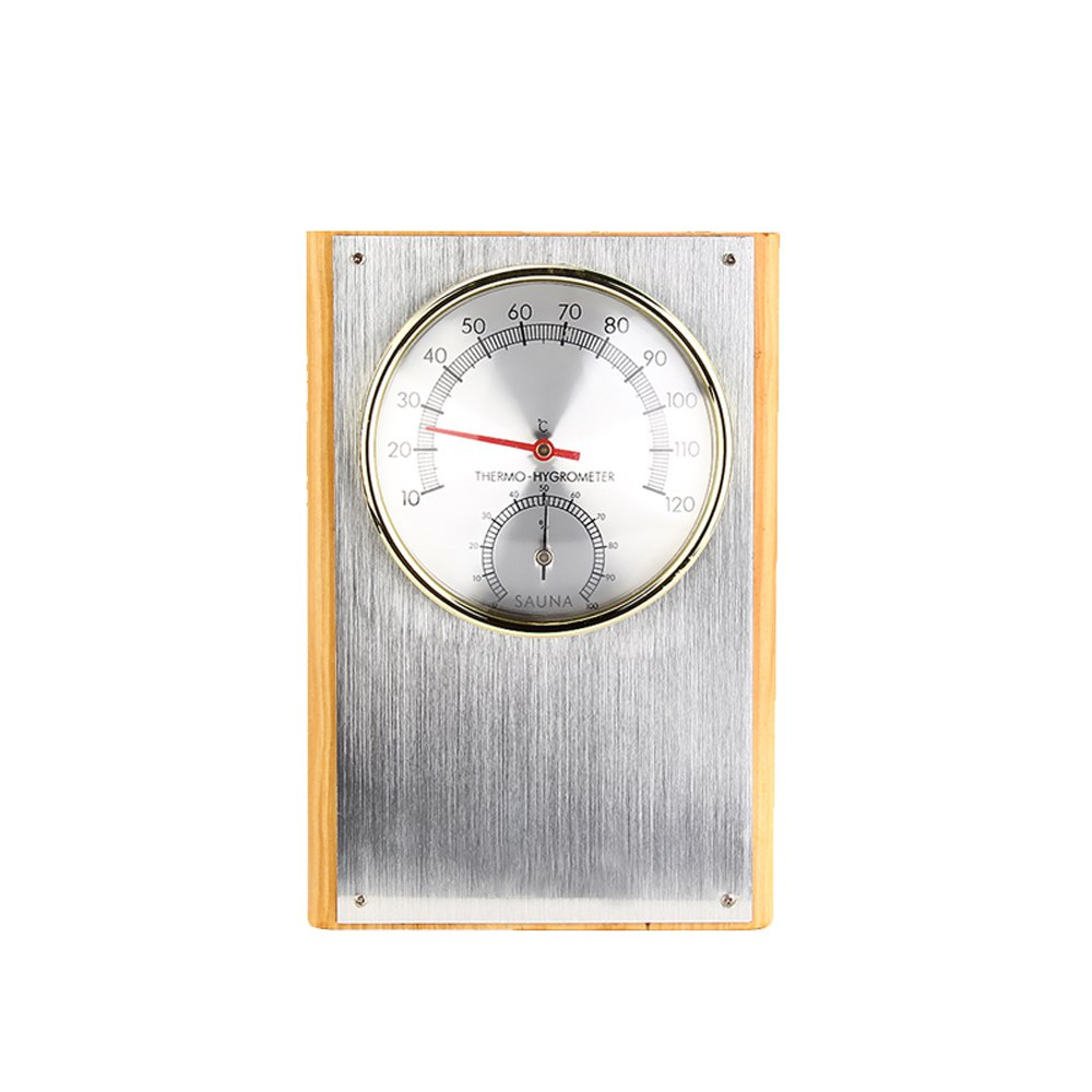 UWECAN Sauna Room Thermometer Hygrometer Vertical in Stainless Steel Sauna Thermometers TOP HIGH technology. Co. Ltd