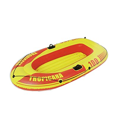 Pool Central Inflatable Red and Yellow Tropicana Single Boat, 72-Inch: Toys & Games
