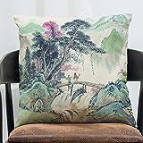 Sykdybz Sofa Cushion Art Stamp Cotton Linen Pillow Set Of Antique Furniture Sofa Cushion Car Series L