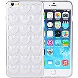 iPhone6 ケース iPhone 6s ケース Ollivan iPhone6 plus/6s plus ケース シリコン かわいい ハート バックカバー ストラップ付き (iPhone 6/6s 4.7インチ, クリア)