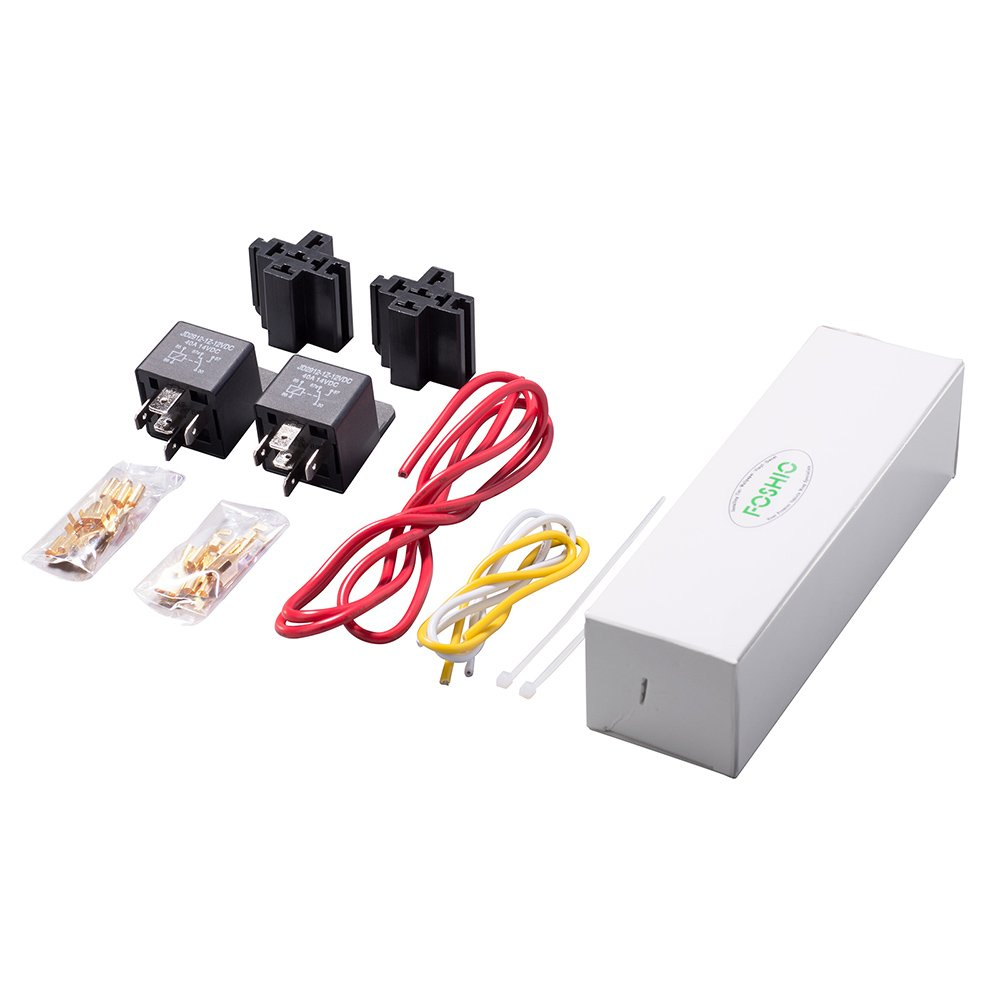 Foshio Car Relay 12v Dc Switch Harness Set 5 Pin Spdt 24v Bosch Automotive 14awg Loading Hot Wires Pack Of 2 Motorbike