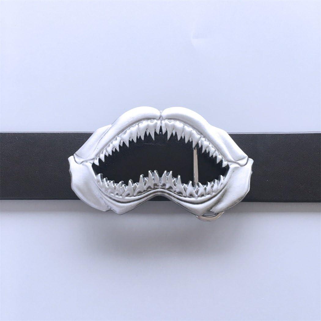 New Vintage Sculpting Shark Teeth Belt Buckle Gurtelschnalle Boucle de ceinture