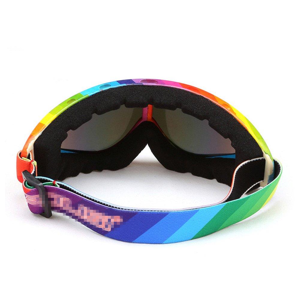 Adulte Snow Lunettes de ski coloré objectif Motocross anti-buée Mode protection des yeux Lunettes de sport, Homme, léopard