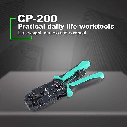 Footprintse Alicates;Pelacables;Alicates que prensan Proskit CP-200R 4 en 1 Herramienta