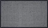 Durable Workstation Edge Anti-Fatigue Mat Drainage Mat, 36'' x 60'', Black
