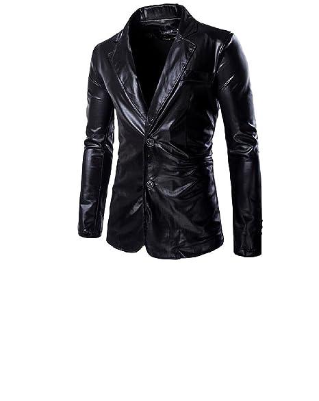 Amazon.com: kankanluck hombre Simplicity Blazer moda casual ...