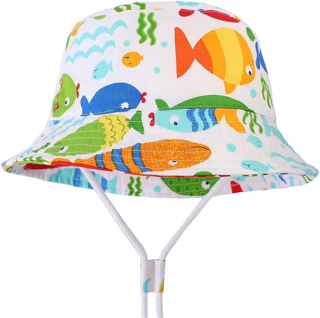 GWELL Kinder Dinosaurier Sonnenhut Sommer Outdoor Strandhut UV Schutz M/ütze Sommerhut Fischerhut Wanderhut
