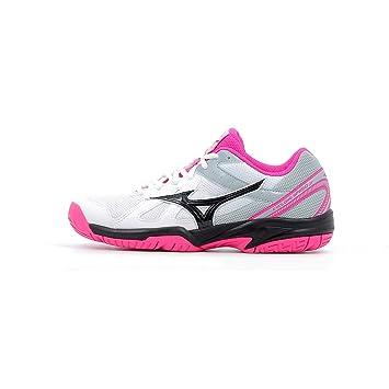 08824e2caffc Mizuno Cyclone Speed Junior, White/Black / Pink Glo, 33: Amazon.co ...