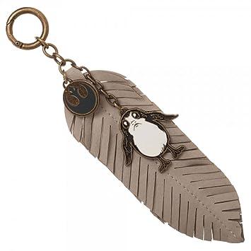 Star Wars: The Last Jedi Porg Feather Pewter Llavero: Amazon ...