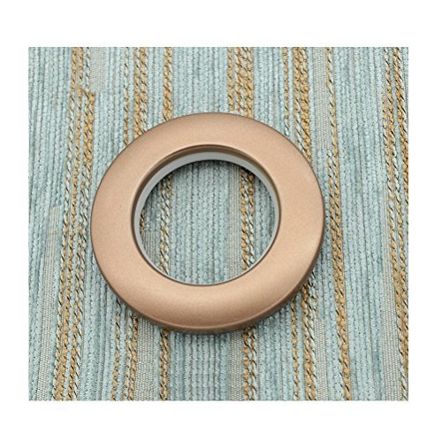 Interbusiness Drapery Curtain Grommets 1.57 Inch Inner Diameter, Set of 12 (Frost Coffee) ()