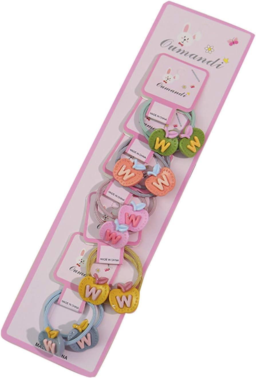 Cuerda para el cabello, 10 piezas de resina de frutas de flores de alimentos para niñas banda elástica para el pelo cuerda de caballo titular de regalo - 9 #