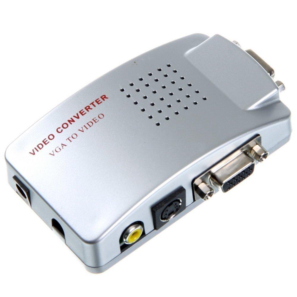 Convertitore adattatore video DA VGA A AV, RCA,s-video per monitor pc proiettori tempo di saldi TDSVGATOAV