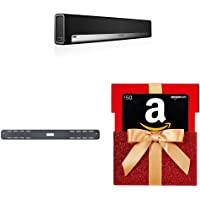 Sonos PLAYBAR Smart Home Theater Sound Bar with Wi-Fi Music Streaming + $50 Gift Card + Wall Mount for Sonos Playbar Sound Bar