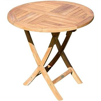 Perfekt ASS Echt Teak Gartentisch Klapptisch Holztisch Gartentisch Tisch Rund 80cm  JAV Coamo Von