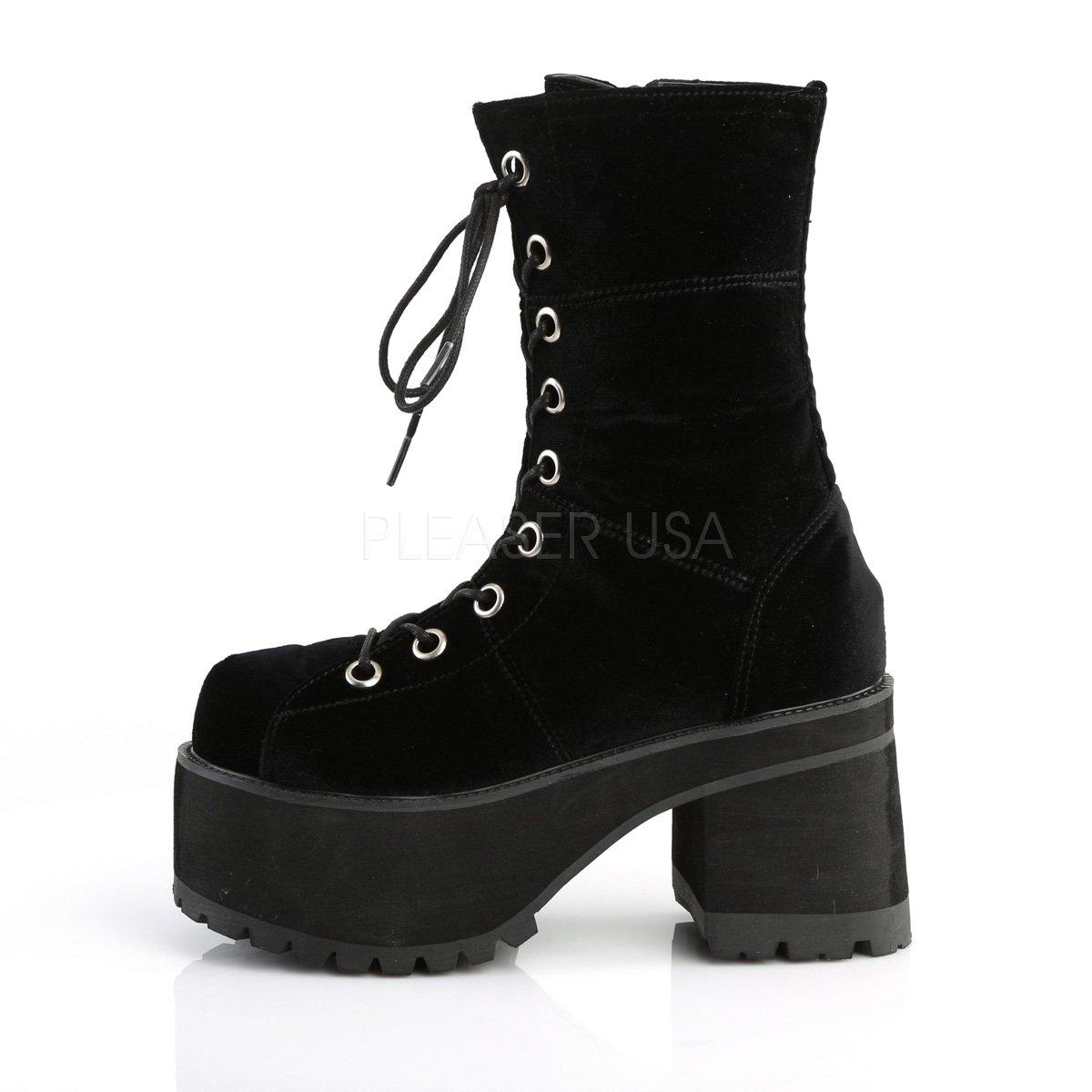 38814879edc0 Demonia Womens Industrial gothic punk ankle lace-up boots Ranger-301 black  velvet  Amazon.co.uk  Shoes   Bags