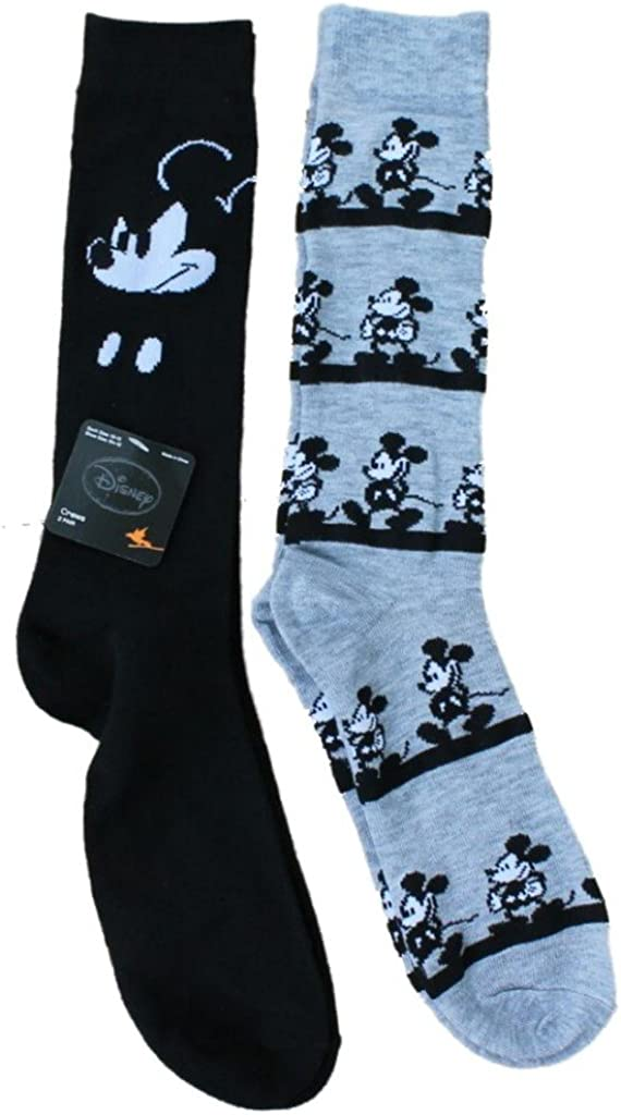 Mens Teens Classic Mickey Mouse Crew Socks 10-13