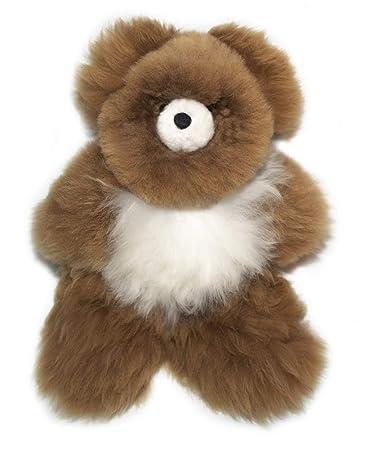 Amazon Com Brown And White Alpaca Fur Teddy Bear Handmade On 100