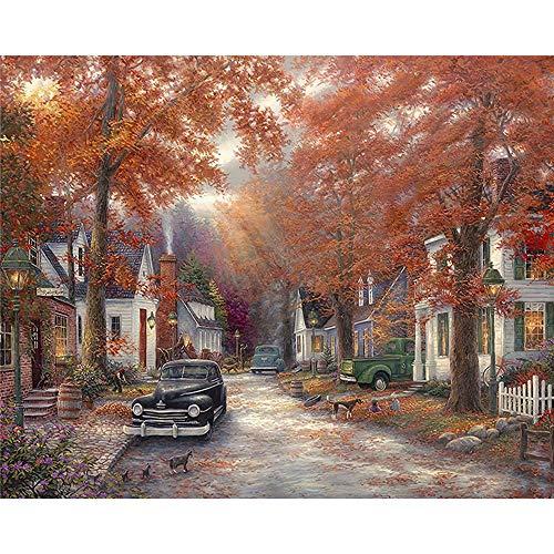 Autumn Tree Villa 5D Diamond Painting Diy Paint
