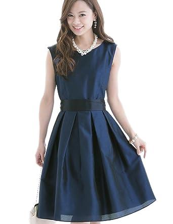 9ee42eb544808 プールヴー パーティードレス ワンピース ドレス お呼ばれ 女子会 レディース ネイビー Mサイズ 9号