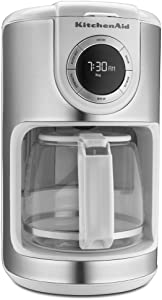 KitchenAid KCM1202WH 12-Cup Glass Carafe Coffe Maker - White