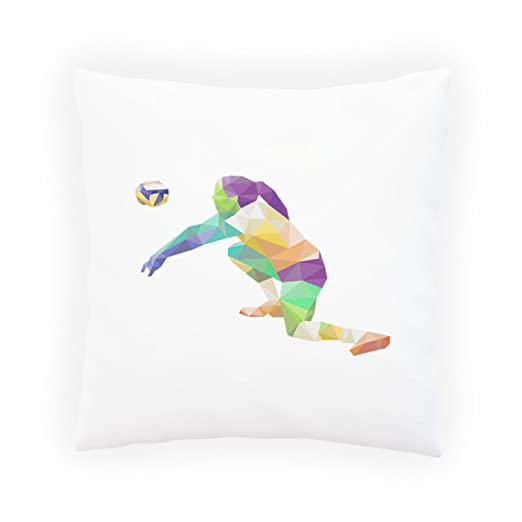 INNOGLEN Triángulo de Voleibol Poligonal Origami Almohada ...