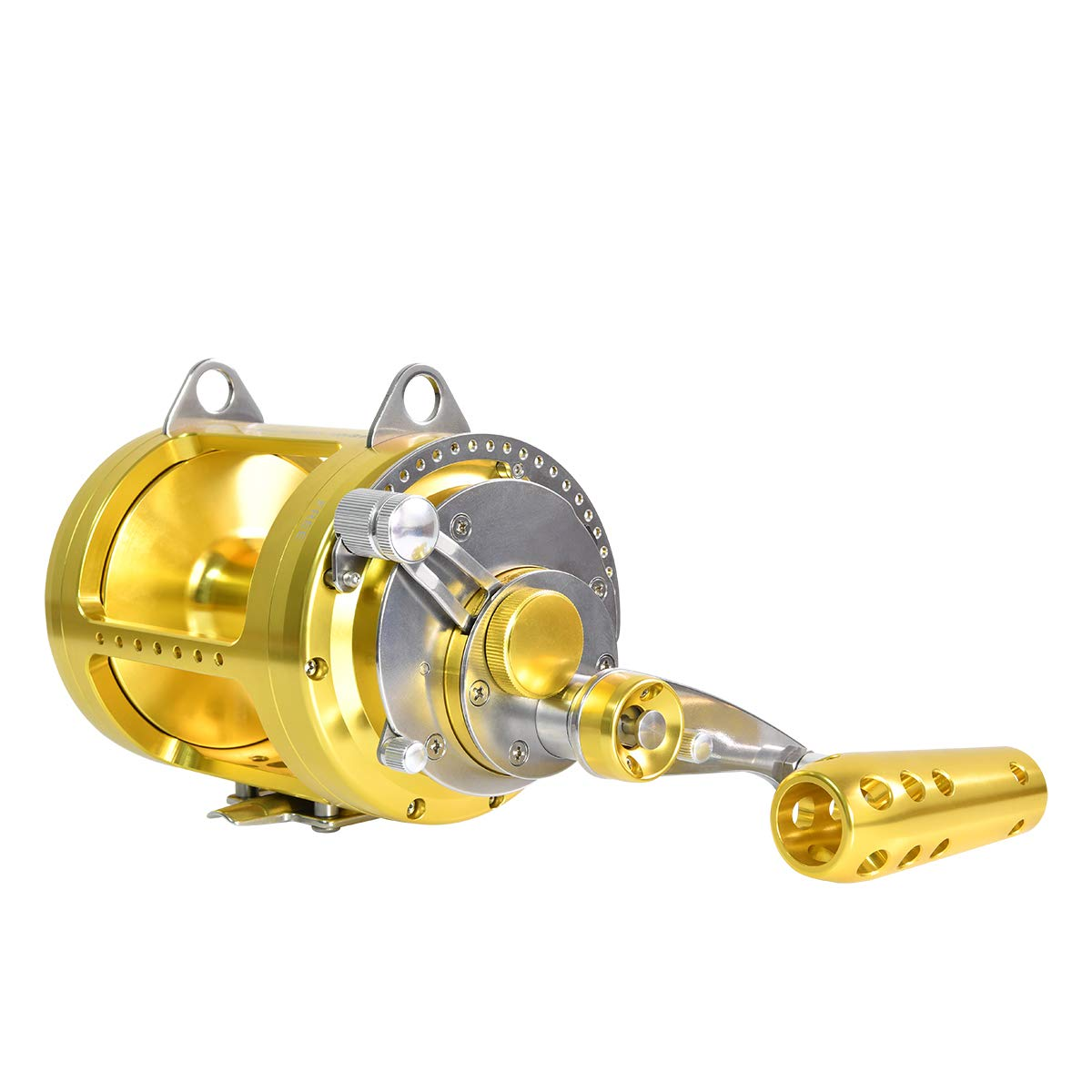 GOMEXUS Saltwater Trolling Reel 2 Speed Bluefin Yellowfin Tuna Game Reel 18W to 50W 50-140lbs Silky Smooth and Solid Powerful 10 Year Test
