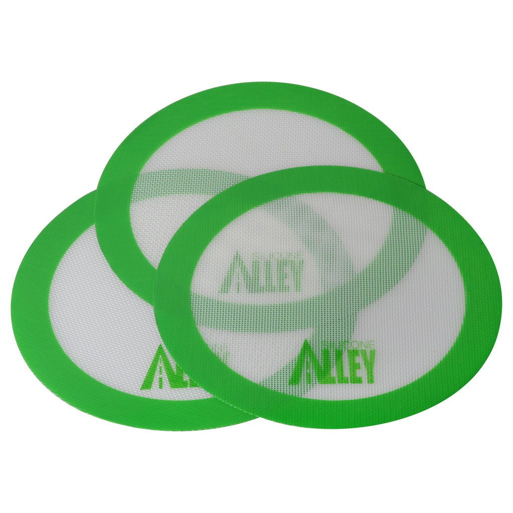 Silicone Rolling Baking Pastry Mat Large Round 9.5 Green 3 Non-stick Mat Pad Silicone Alley 3 Non-stick Mat Pad Silicone Rolling Baking Pastry Mat Large Round 9.5 Green