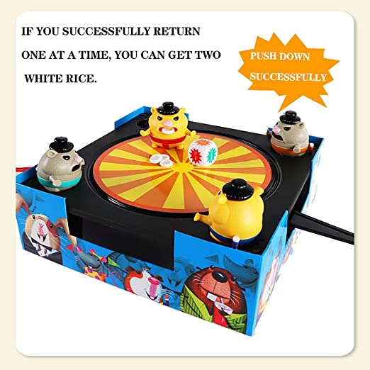 Lrhd Small Hamster Sumo Competition Kids Double Multi Player Wrestling And Martial Machine Parent Child Party Interactive Fighting Educational Desktop Games Toys Boys And Girls Birthday Ge Baby