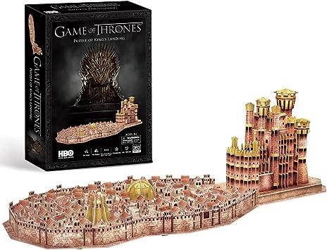 CubicFun Game of Thrones (Got) Puzzle 3D KingS Landing Model Kit Regalo para Adultos y niños 8, Song of Ice and Fire, 262 Piezas: Amazon.es: Juguetes y juegos