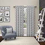 """Pairs to Go Vickery 2 Pack Window Curtains, 84"""", Gray"""