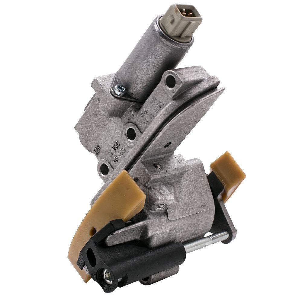 Cam Shaft tensor de cadena solenoide Kit de juntas para Audi A3 A4 A6 TT VW Jetta Golf Passat Beetle 1.8T steuerkettensatz + kettenspanner Set: Amazon.es: ...