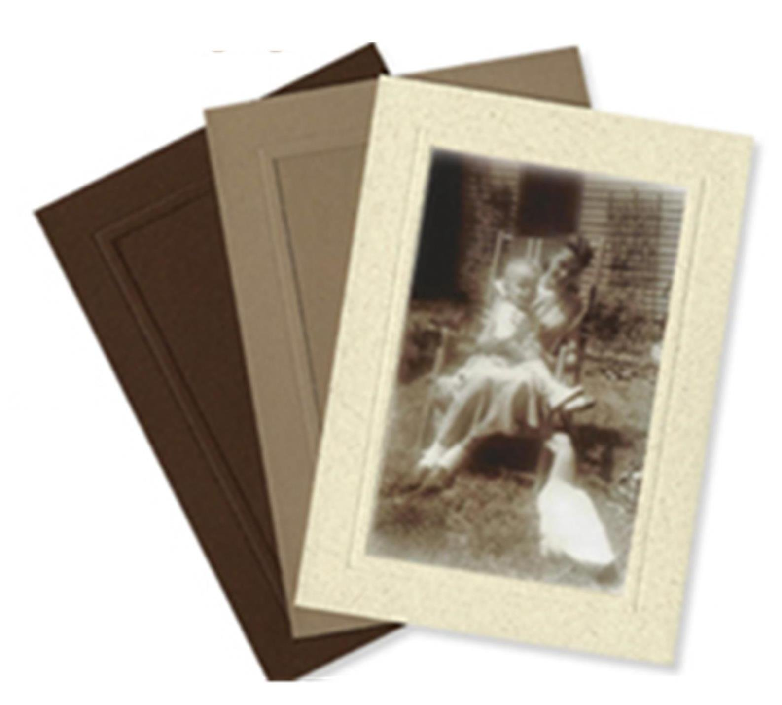 Coffee Collection 4x6 Photo Insert Note Cards - 24 Pack by Plymouth Cards (Made from Recycled Coffee Bean Bags)