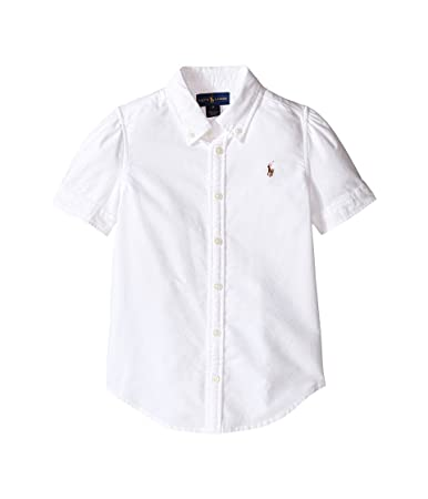 f47ddd3ff6f4 Amazon.com : Polo Ralph Lauren Kids Classic Solid Oxford Shirt Big Kids  White Girl's Long Sleeve Button Up : Everything Else