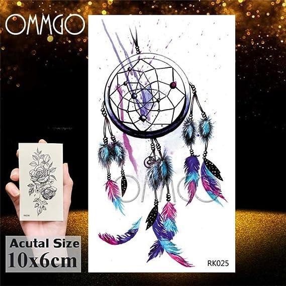 Geométrica 5Pcs- Galaxy diamante etiqueta engomada del tatuaje de ...