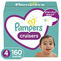 Diapers Size 4, 160 Count - Pampers Cruisers Disposable Baby Diapers, ONE MONTH...