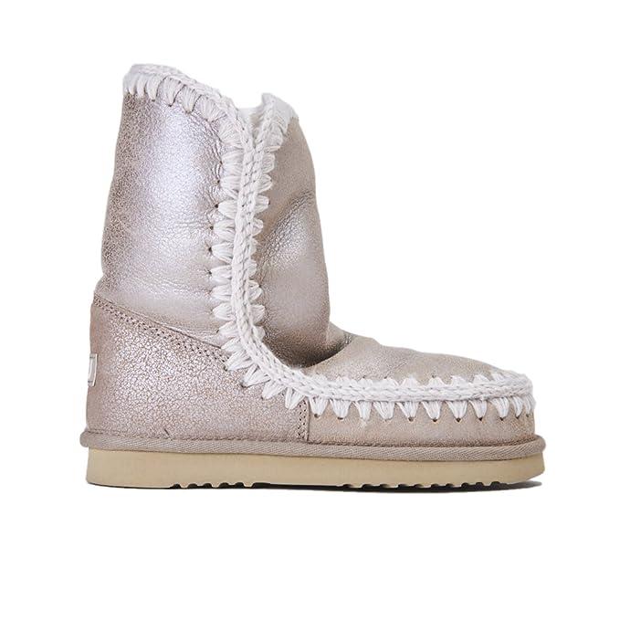 negozio online 8707a 073b7 Scarpe Donna Boot stivali MOU grigio metallic camoscio ...