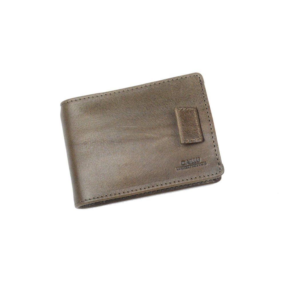 CAILLU Mini Leather Id money Clip,Purse Card,Designer Bifold Wallet