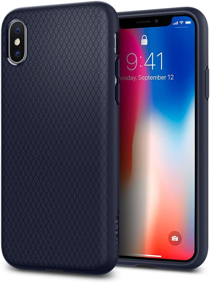 Spigen Liquid Air Armor Designed for Apple iPhone Xs Case (2018) / Designed for Apple iPhone X Case (2017) - Midnight Blue