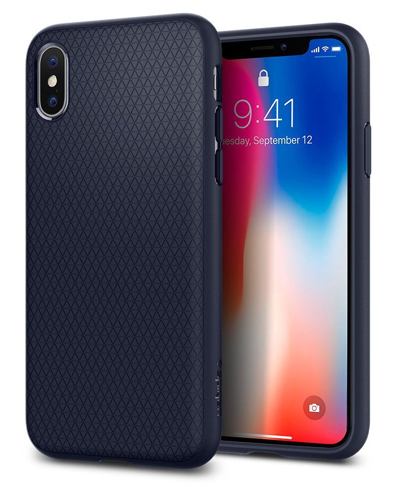Funda Spigen iPhone X/xs [midnight Blue] Liquid Air Armor