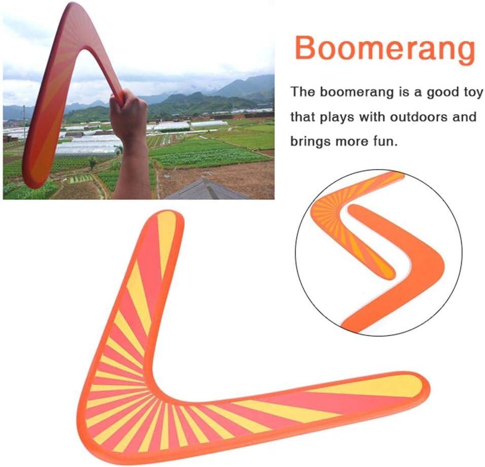 Blue-Yan Boomerang Wooden V-Shape Darts Games for Outdoor Sports Toys for Kids Orange