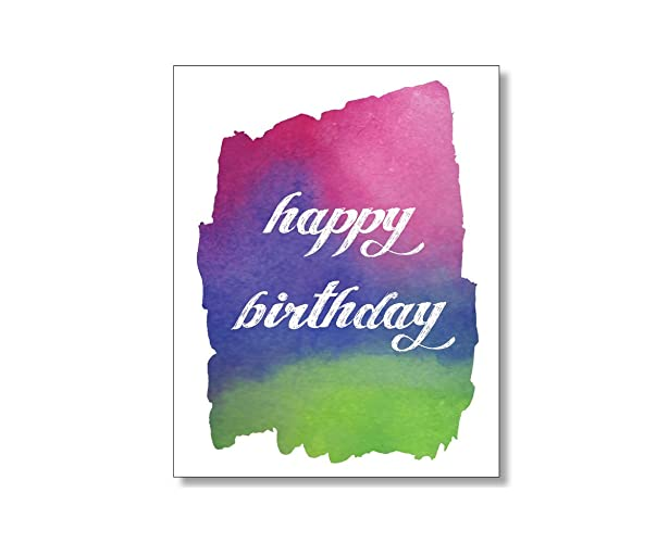 Image Unavailable Not Available For Color Watercolor Design Happy Birthday Card