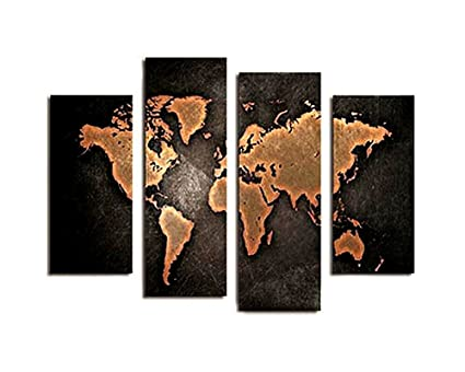 Amazon berdecia black background blank global world map canvas berdecia black background blank global world map canvas painting wall art pictures print home decor for gumiabroncs Image collections