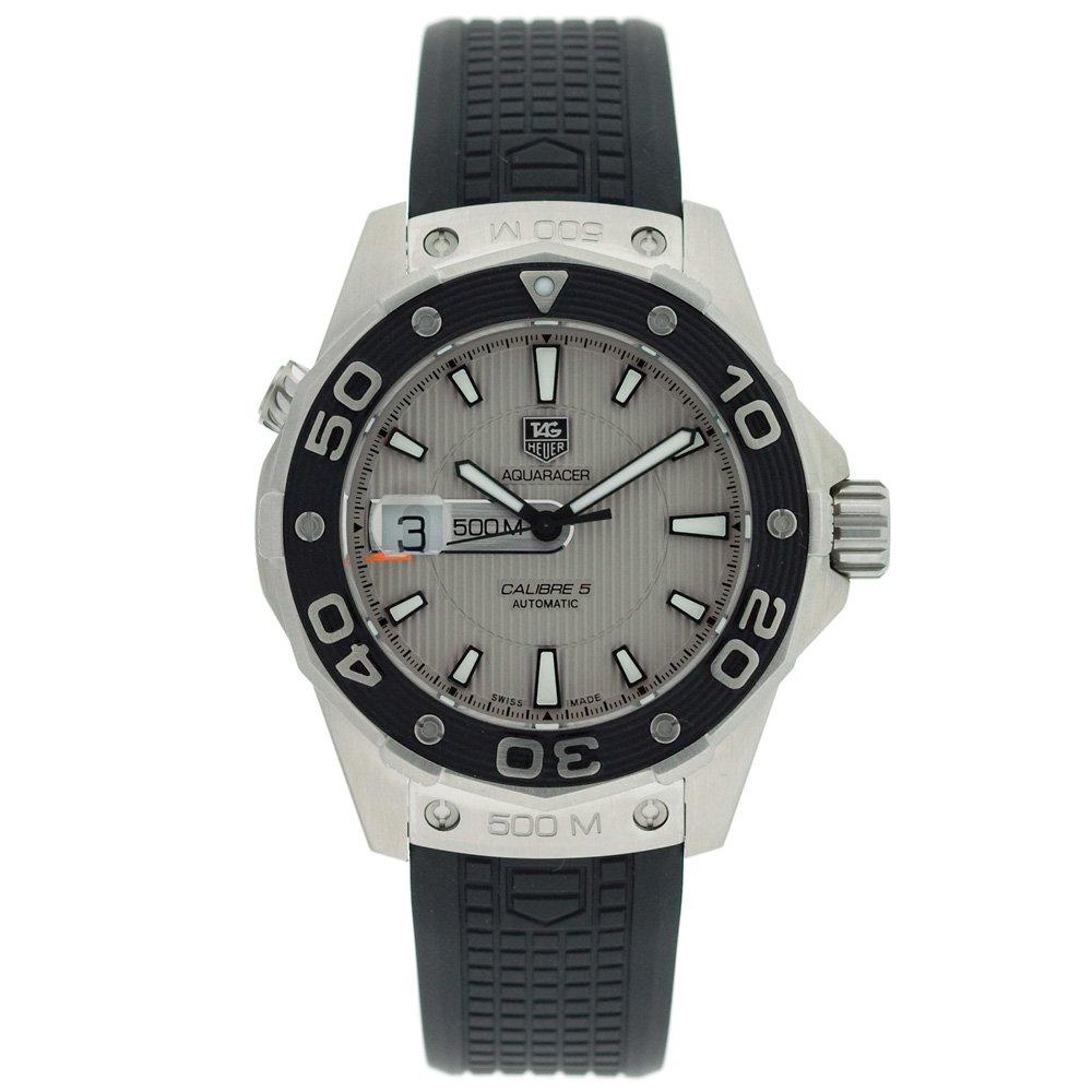 TAG Heuer Men s WAJ2111.FT6015 Aquaracer Calibre 5 Automatic 500M Silver Dial Watch
