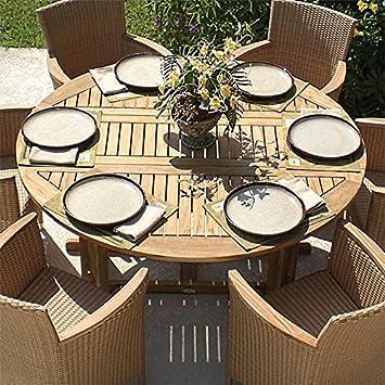 Royal Teak DLT5 60 Inch/5 Feet Round Drop Leaf Table