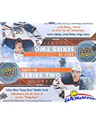 2017/18 Upper Deck Series 2 NHL Hockey MASSIVE Factory Sealed 24 Pack Retail Box with 192 Cards! Absolutely Loaded with 6 Young Guns ROOKIES,3 Canvas Cards & 4 Portrait ROOKIES! WOWZZER!