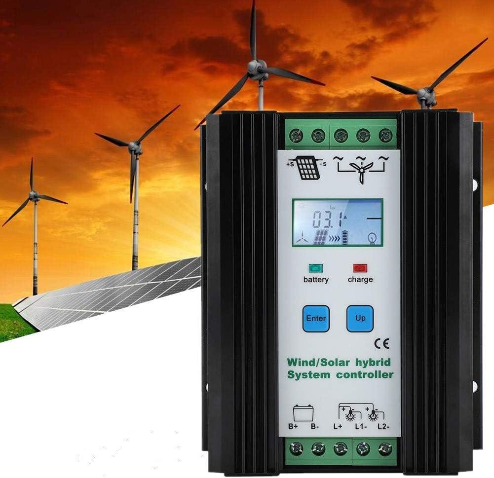 12v 200w 300w 30a Hybrid Solar Wind Charge Controller Solarladeregler Pmw Laderegler Windladeregler Solar Ladegerät Controller Mit Lcd Display Und Lastausgang Baumarkt