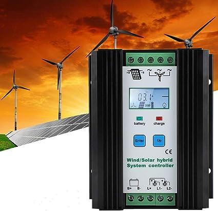 Controlador híbrido de energía eólica y solar. Iluminación de alumbrado público. Controlador de carga. Control inteligente digital. Impulsar el regulador de carga para paneles solares.