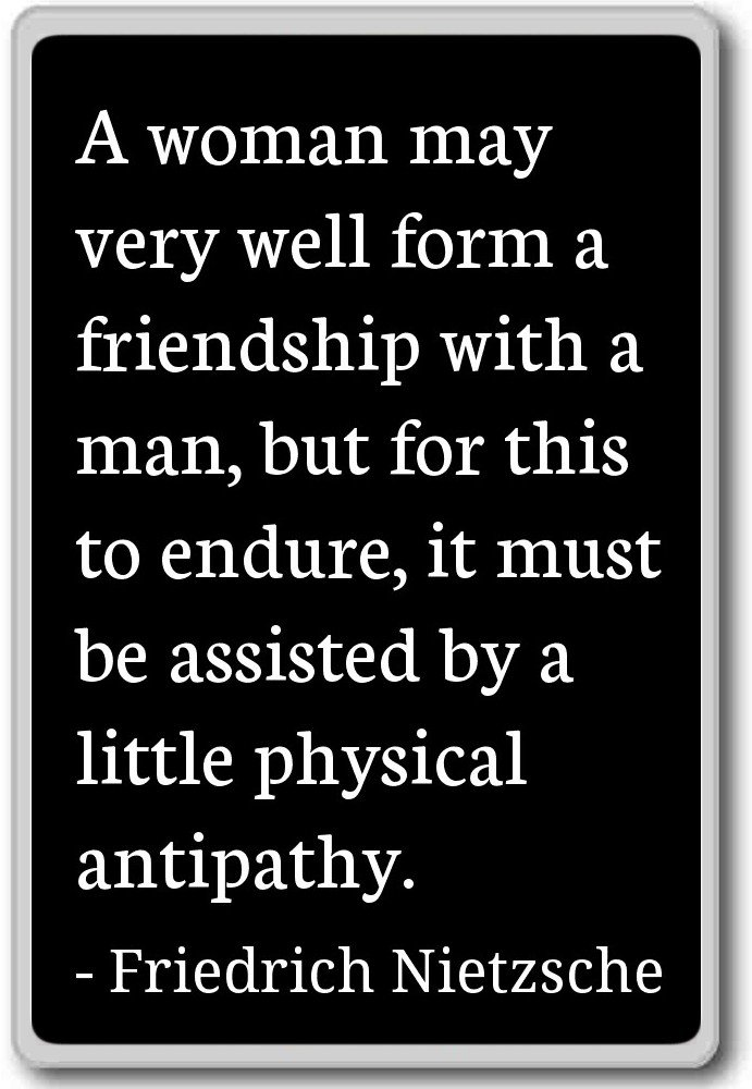 Amazon A Woman May Very Well Form A Friendship Friedrich