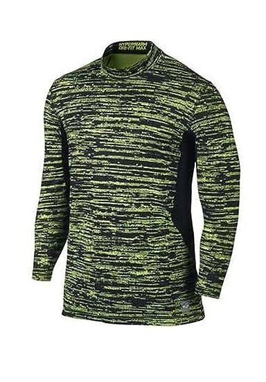 98740678eb5f Amazon.com  Nike Mens Dri Fit Max Hyperwarm Mock Turtleneck Fitted Shirt  624525 (Small)  Sports   Outdoors