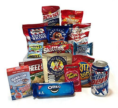 Military Care Package Box - American Food Box - Care Package Gift - Food Goodies - Snack Package Gift - Snacks Care Package (Large, American Food Snack Set)